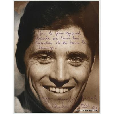 Sacha DISTEL - Photographie grand format dédicacée et signée (1967)