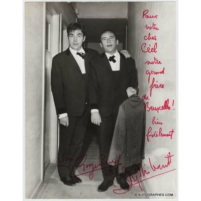 Roger PIERRE et Jean-Marc THIBAULT - Photographie grand format dédicacée et signée