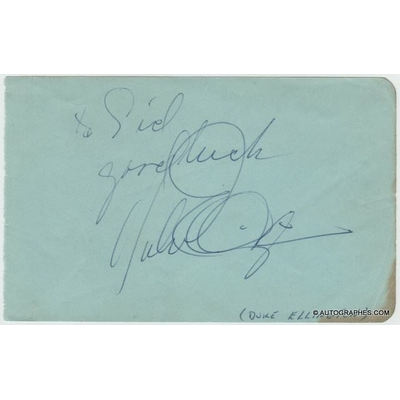 Duke ELLINGTON - Dédicace autographe signée