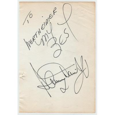 Sammy DAVIS JR - Dédicace autographe signée (Rat Pack)