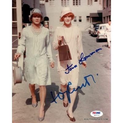 Tony CURTIS et Jack LEMMON - Photographie grand format signée (Certains l'aiment chaud)
