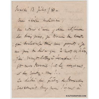 Charles GOUNOD - Lettre autographe signée