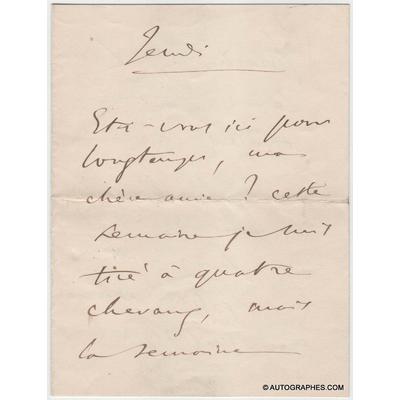 Camille SAINT-SAËNS - Lettre autographe signée