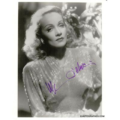 Marlene DIETRICH - Photographie grand format signée par l'actrice