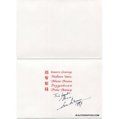 Georges SIMENON - Carte de vœux autographe signée (1987)