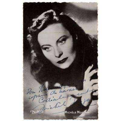 Michèle MORGAN - Photographie dédicacée et signée pour un ami (années 40)
