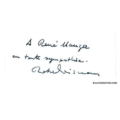 Robert DOISNEAU - Carte postale autographe signée (Les enfants de la place Hébert)