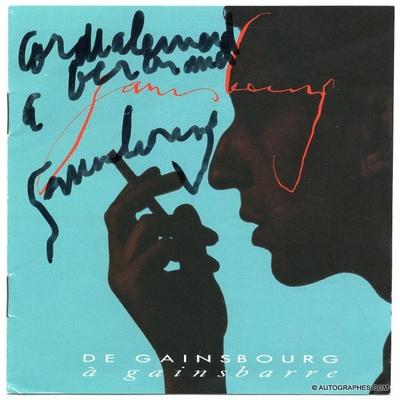 Serge GAINSBOURG - Livret promotionnel dédicacé et signé (1989)