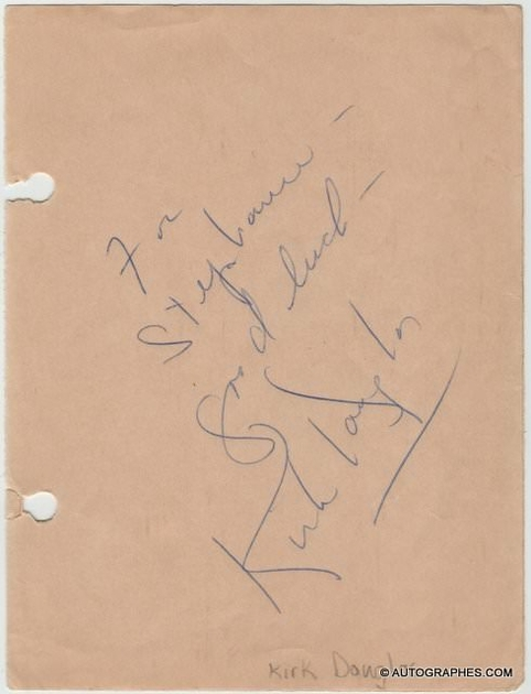 autographe-kirk-douglas-1