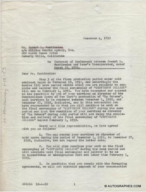 contrat-signature-autographe-joseph-mankiewicz-1-1