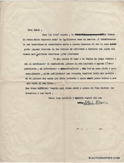 lettre-signature-autographe-alberto-moravia-1