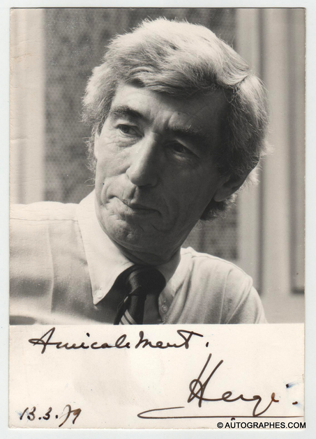 portrait photographique-dedicace-autographe-herge-1979