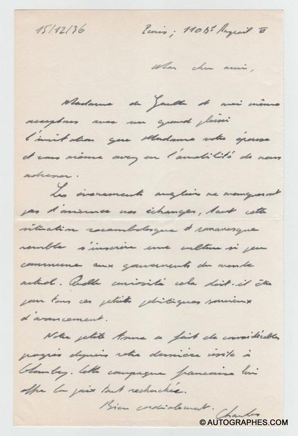 lettre-autographe-signee-charles-de-gaulle-1936