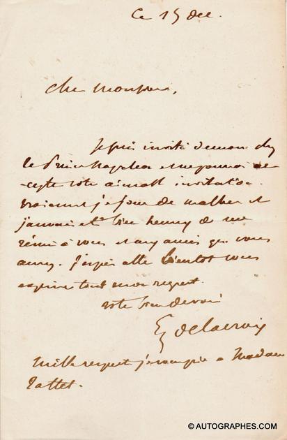 lettre-autographe-eugene-delacroix