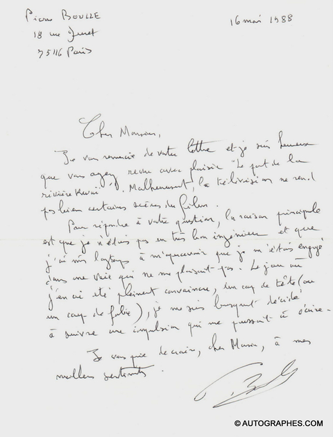 lettre-autographe-signee-pierre-boulle-1988-1