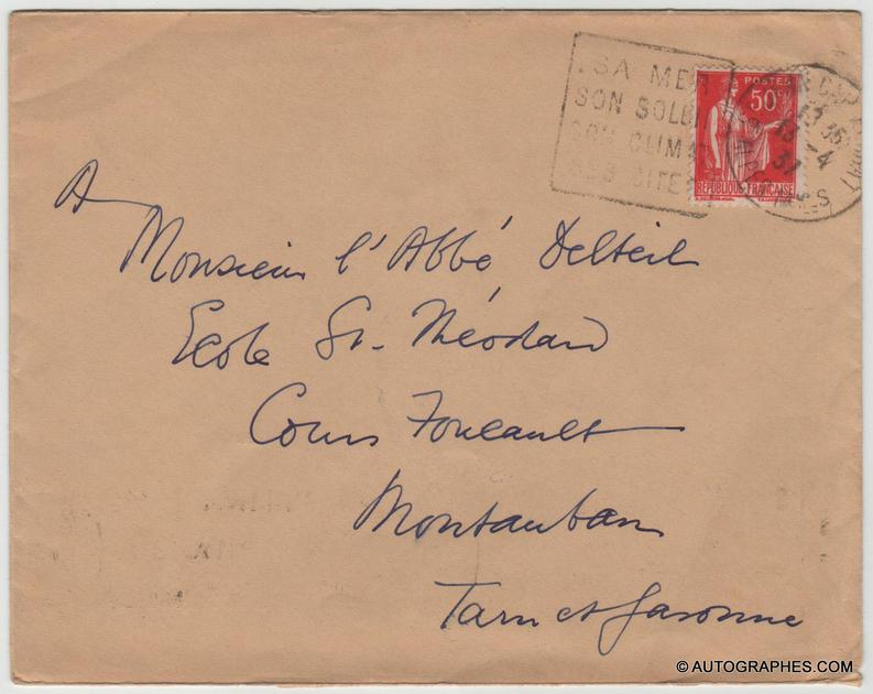 enveloppe-autographe-somerset-maugham-theatre-1935