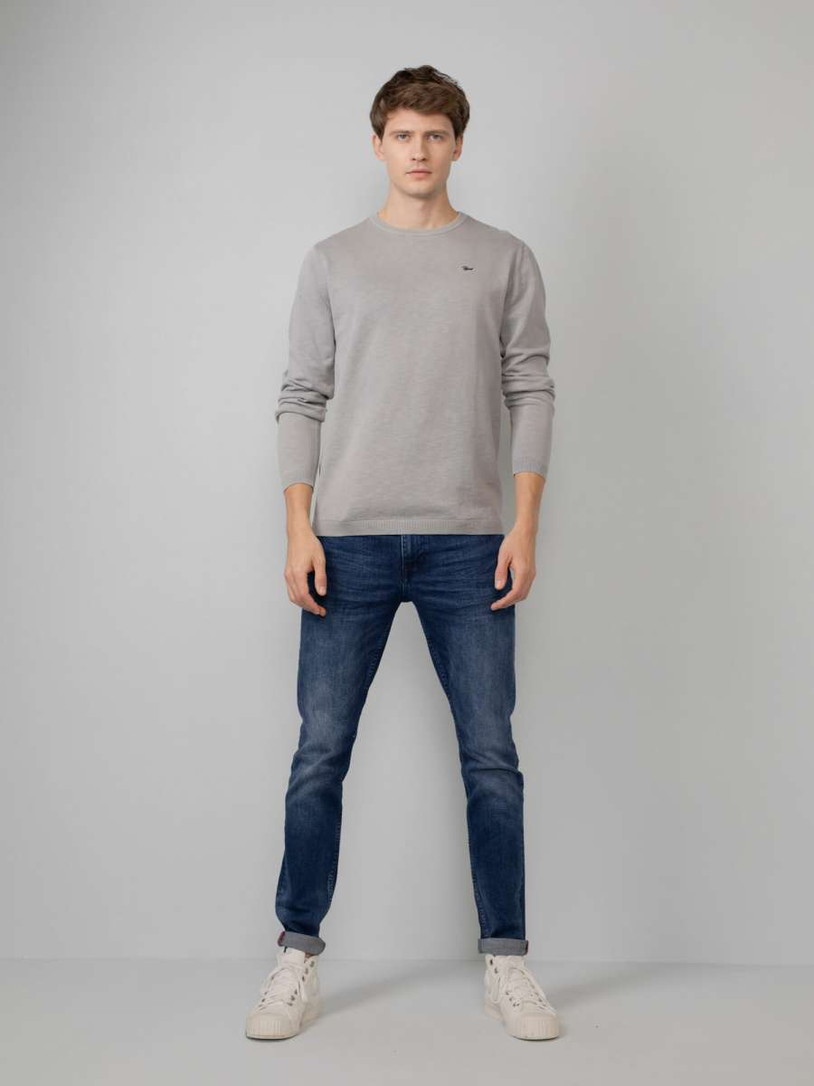 M-1010-KWR205 - Knitwear R-Neck 9038 Light Grey Me 2
