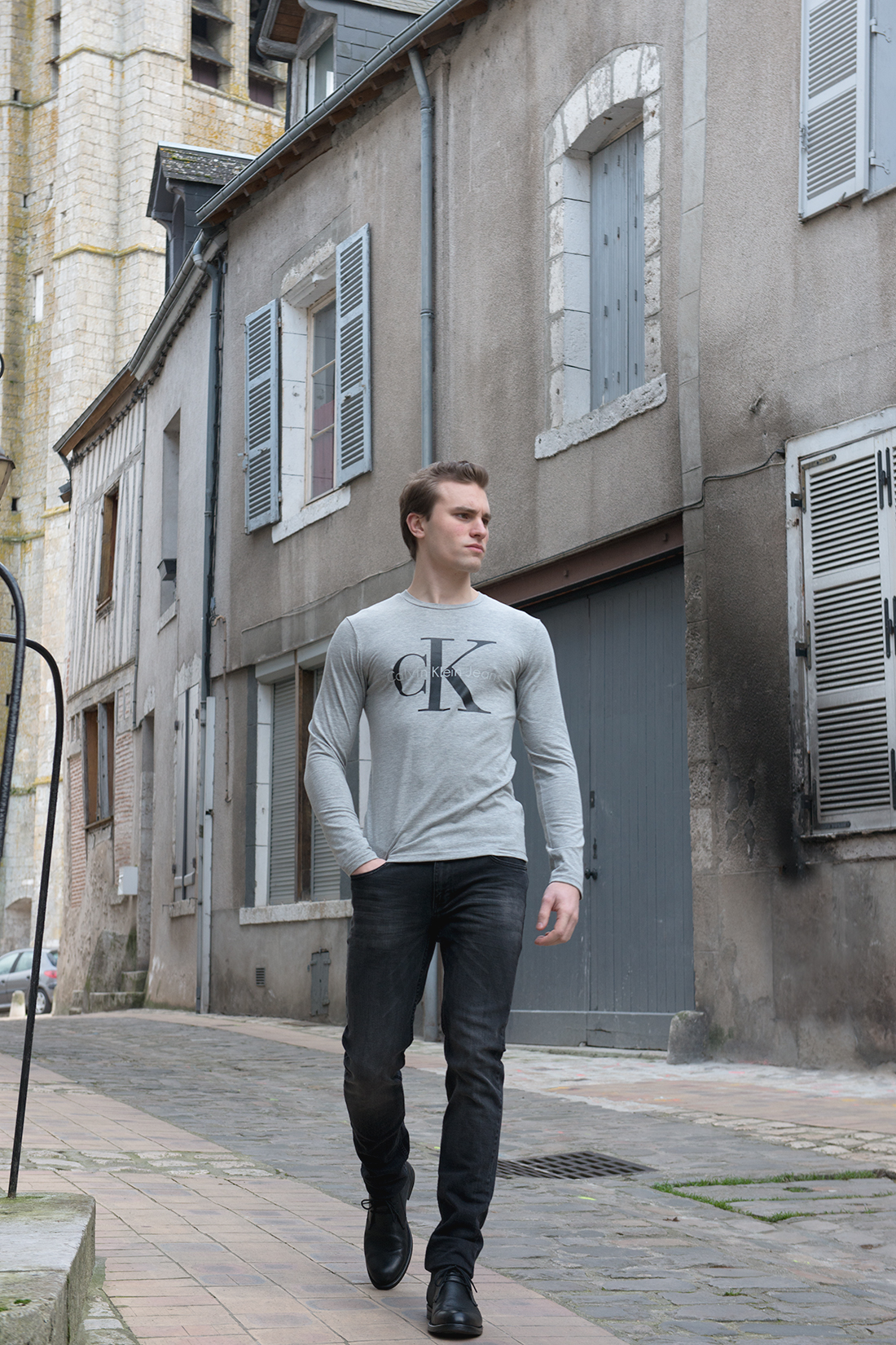 Tee shirt Homme gris Calvin Klein 1