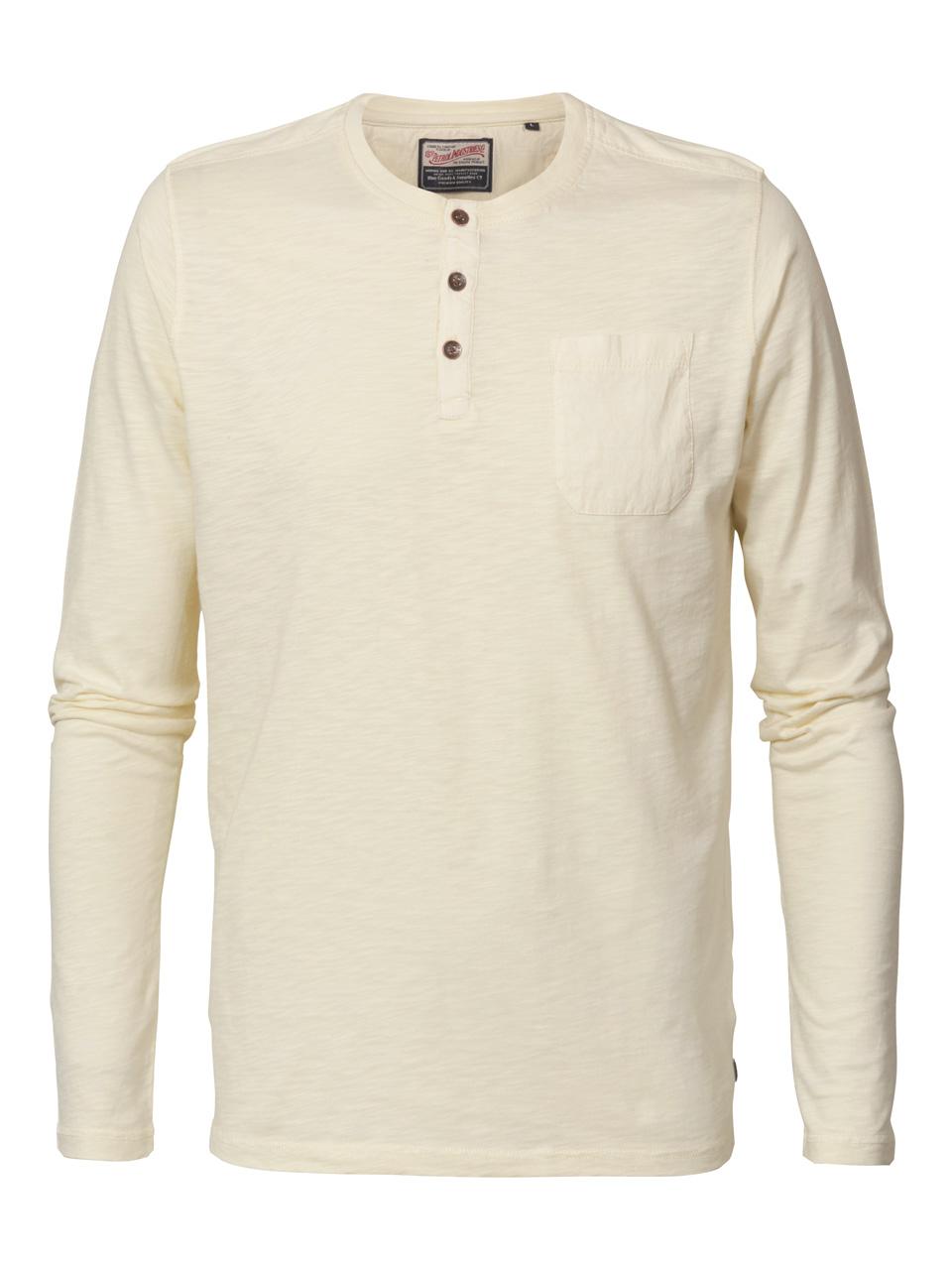 Tee shirt manche longue crème