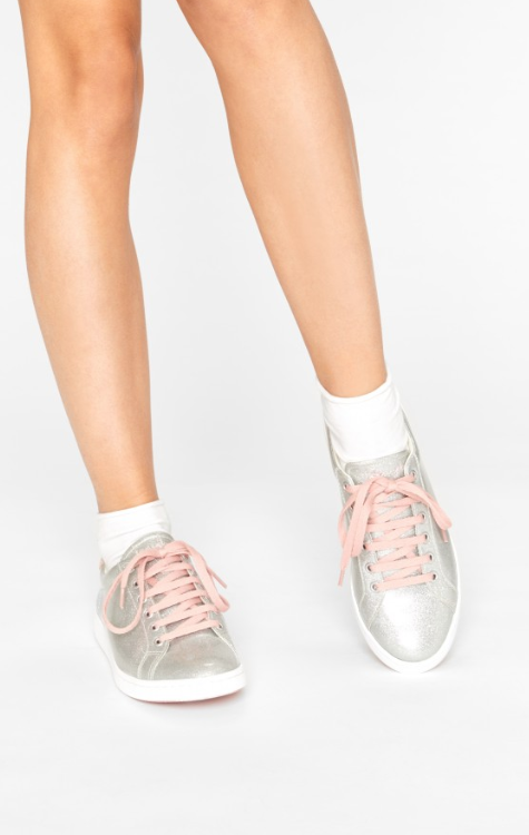 SNEAKERS DAZELY ARGENT Glitter