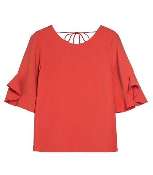 BLOUSE À VOLANTS LIA