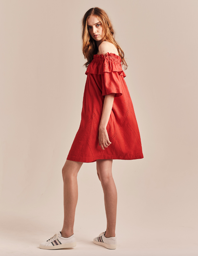 Robe broderie anglaise COQUELICOT IKKS
