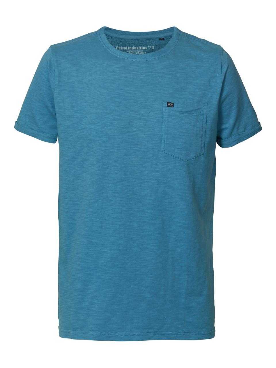 Tee shirt uni petrol bleu