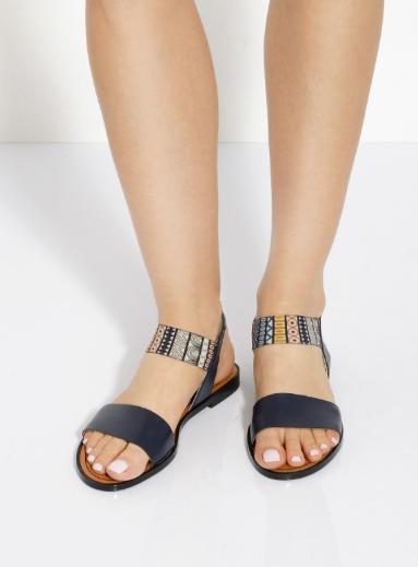 sandale bleu ethnic