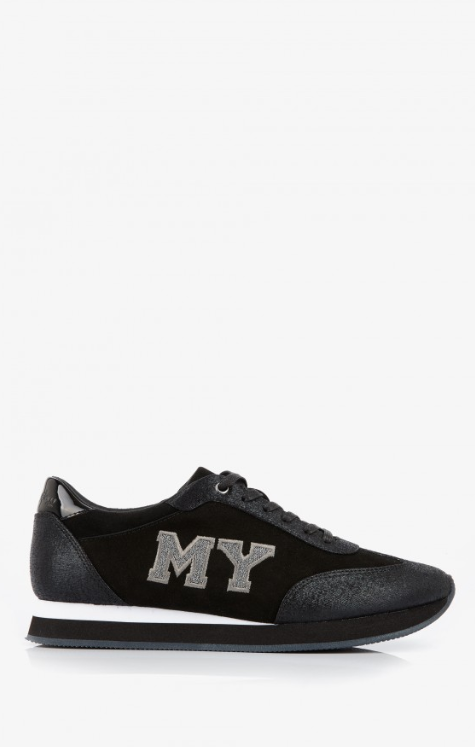 SNEAKERS EVIMY NOIR Cuir velours