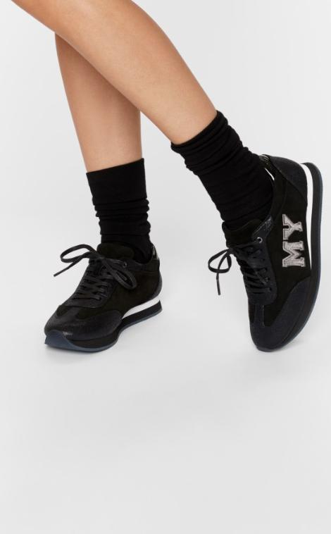 Lora Sneakers Noir Evimy Cuir Femmeschaussures Velours S4jLqc35AR