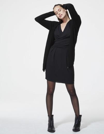 Cardigan zippé noir femme IKKS