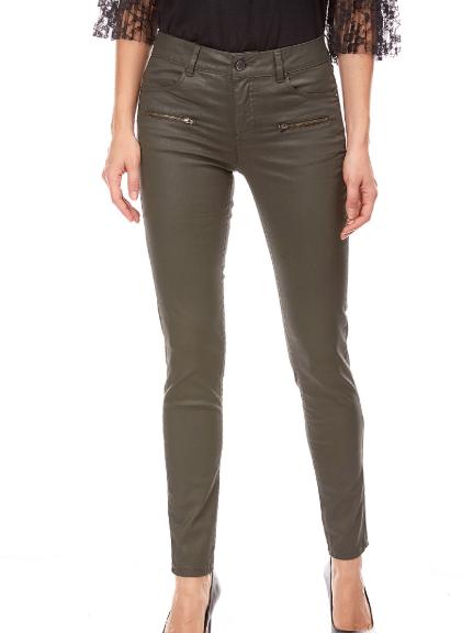Kaki Enduit Lora Taille Pantalon Haute FemmespantalonShortJean qSMVpUGzL