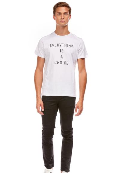 T-shirt Imprimé phrase col rond