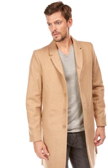 Manteau col tailleur Manteau long CAMEL