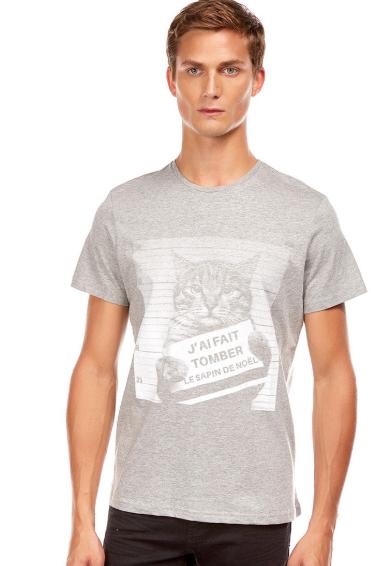 Tee shirt imprimé ras du cou Imprimé humoristique