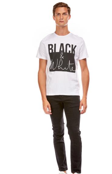 Tee shirt Black and white Imprimé humoristique Best mountain