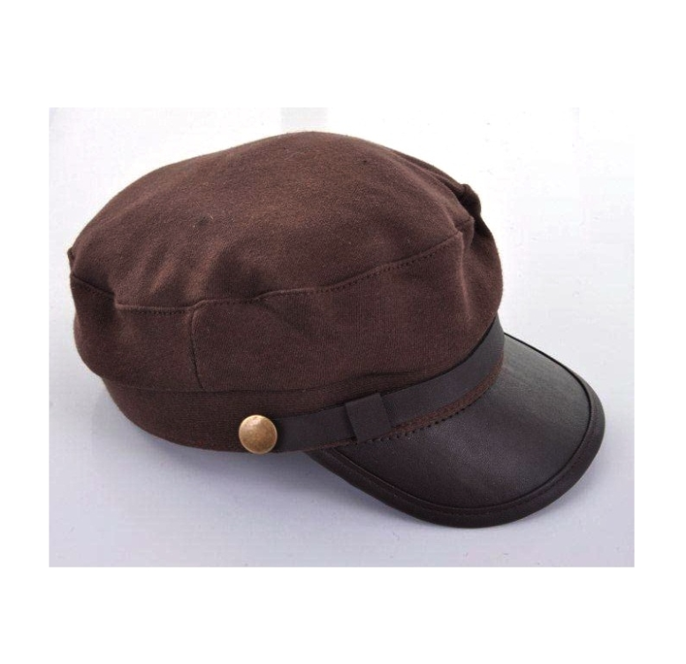 Casquette Polyester Unie Galon Bouton