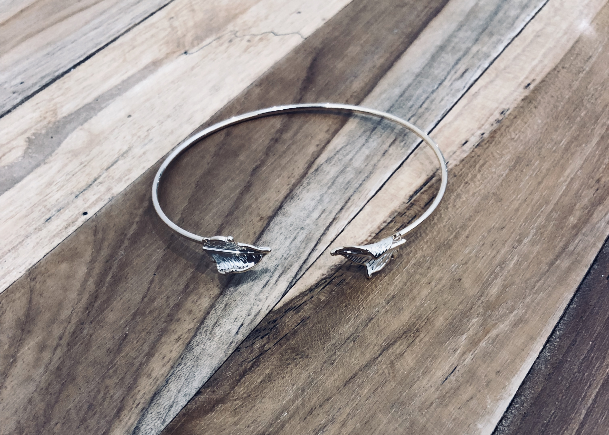 bracelet feuille or 1