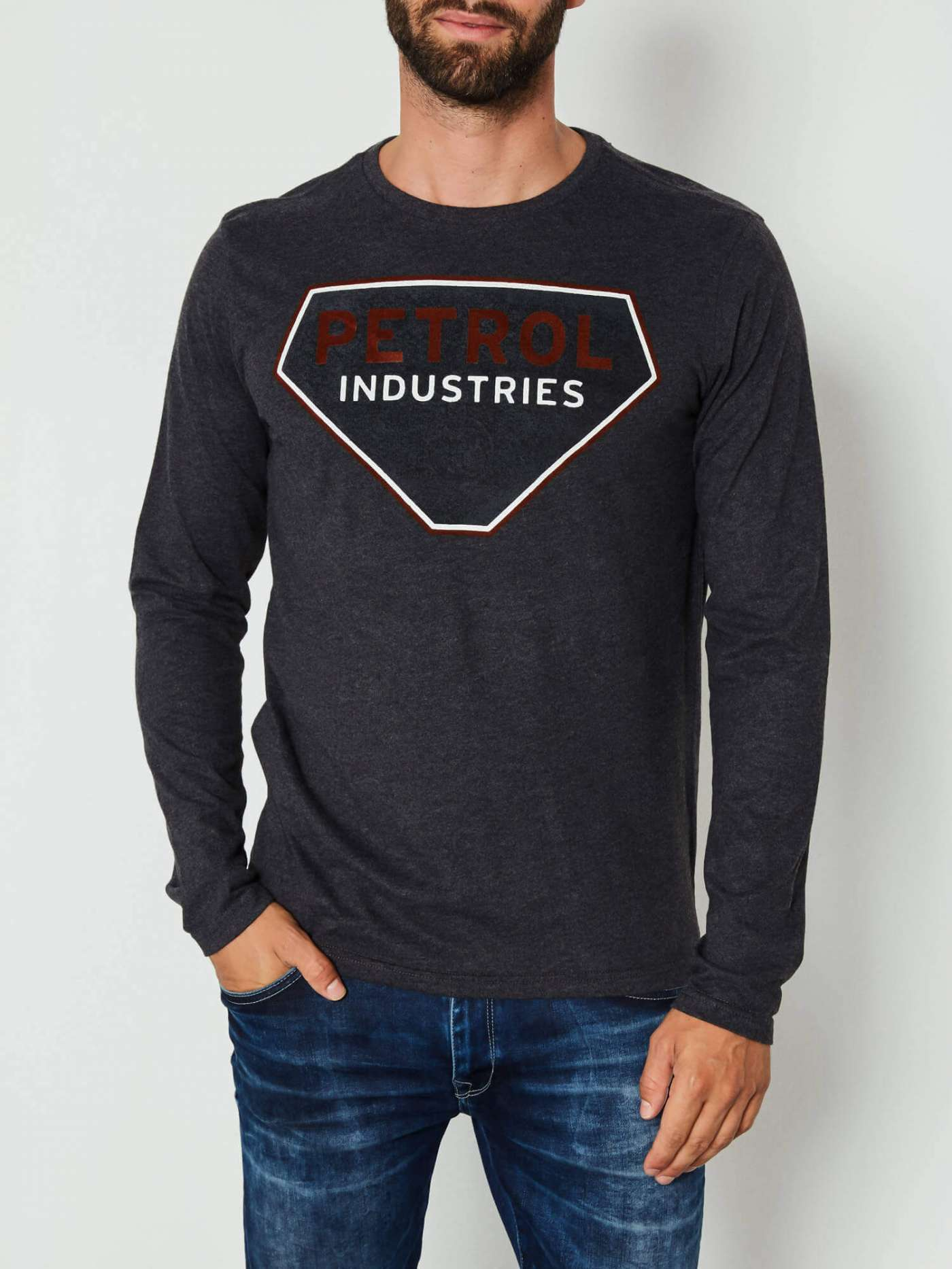 Tee shirt manche longue gris Petrol Industries