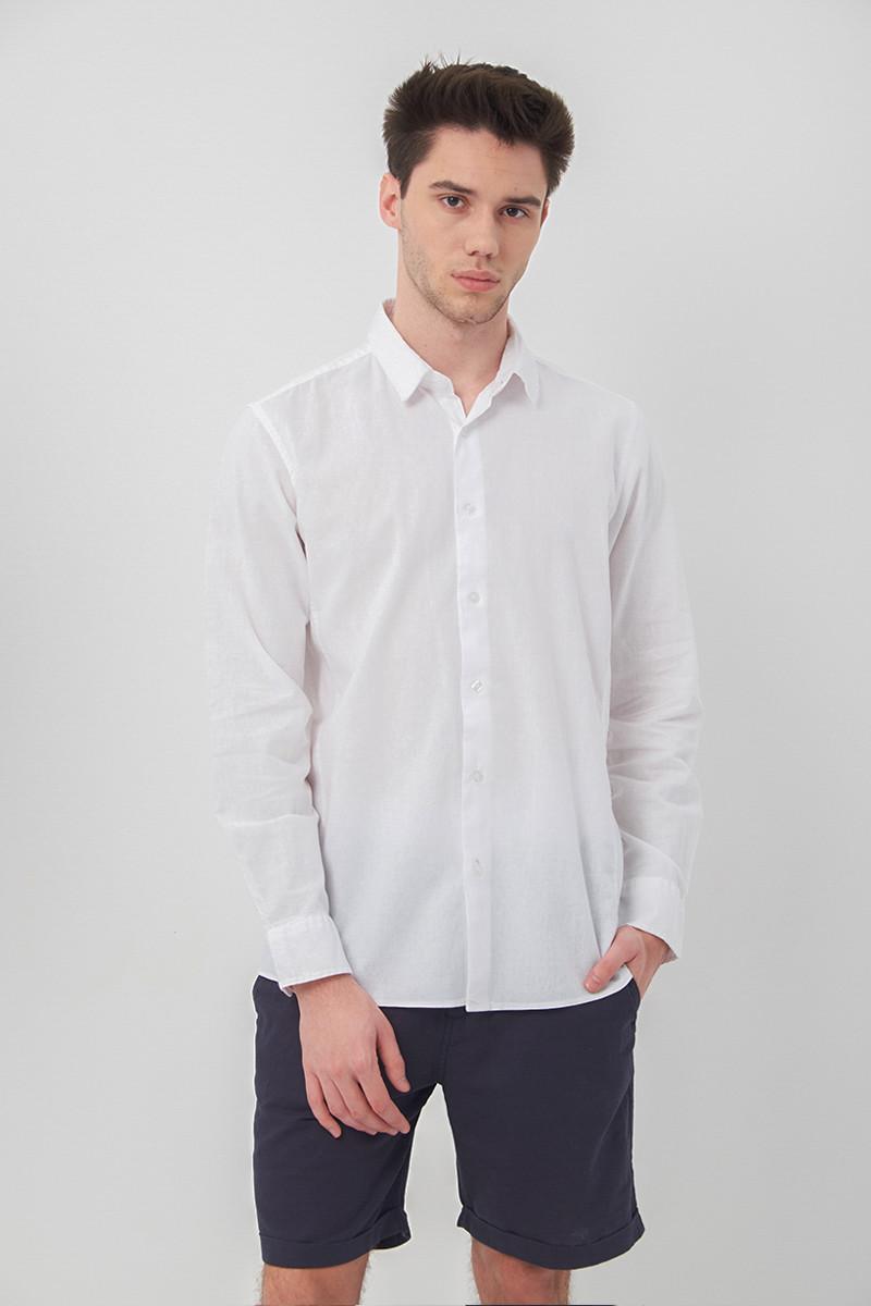 Chemise en lin blanche