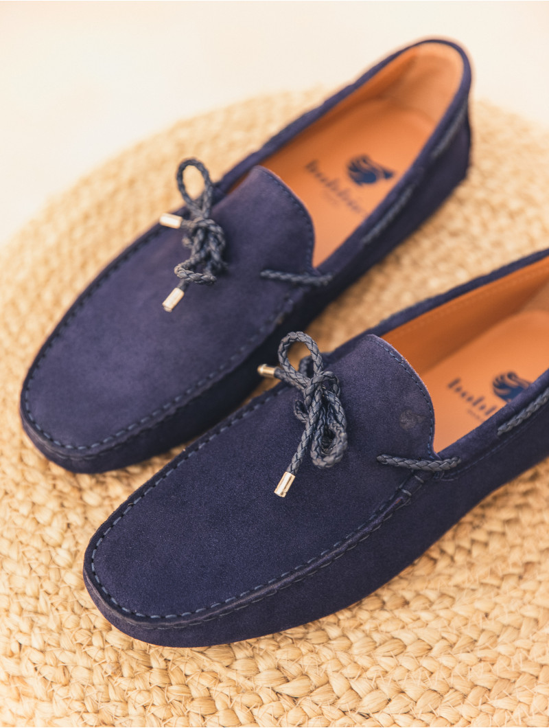 Mocassins l\'Orfèvre bleu marine