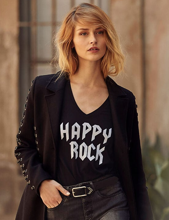 Tee shirt noir IKKS Happy Rock