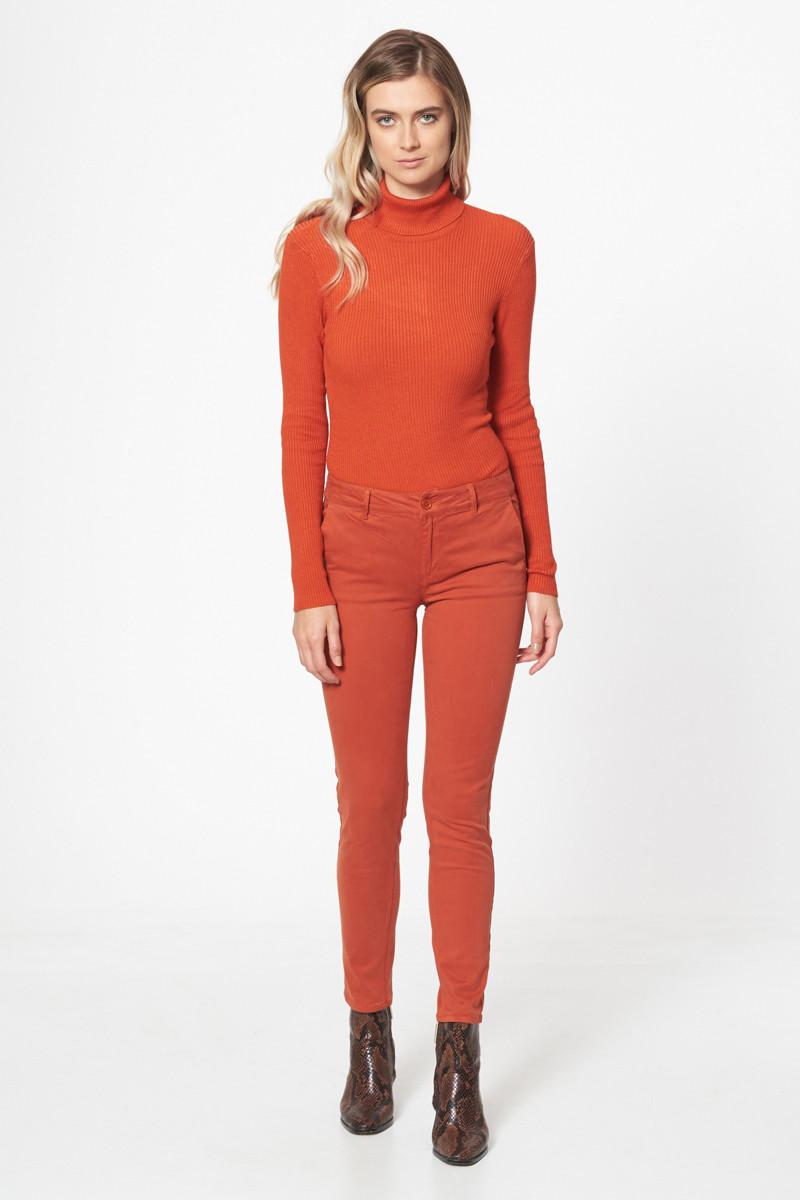 Pantalon chino brique - Outlet Femme/Pantalon, short, jean - Lora