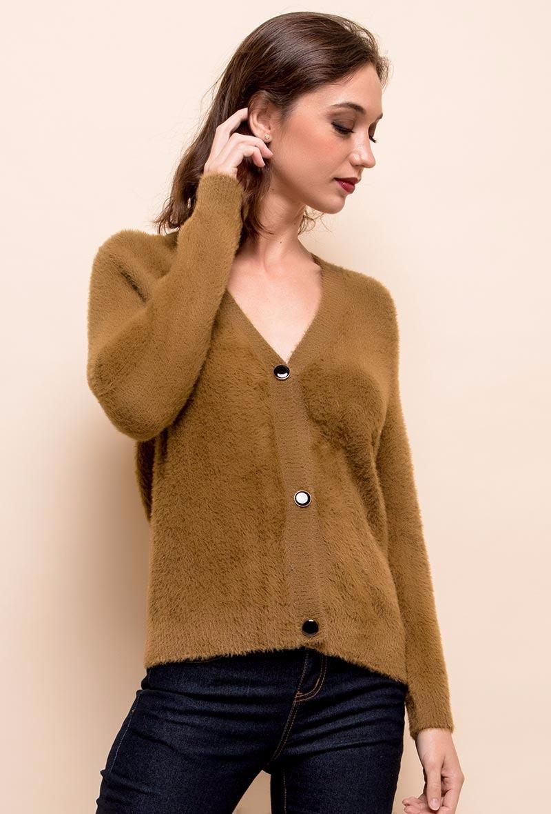 sweewe-cardigan-femme-col-v-camel-1