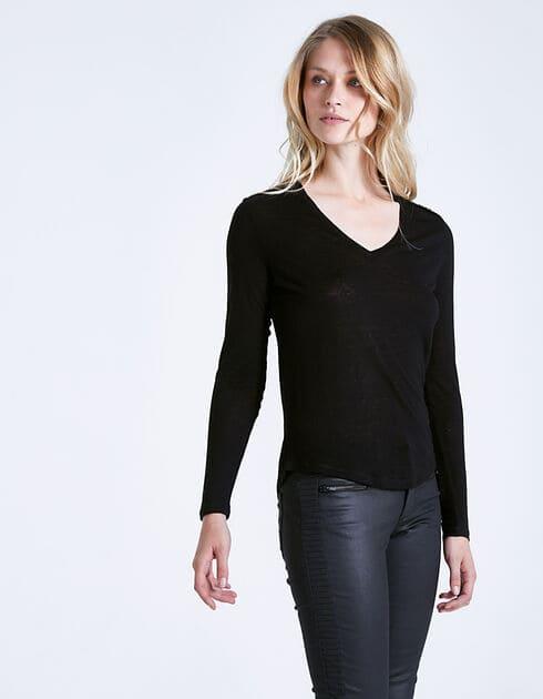 Tee-shirt noir bijoux femme ikks