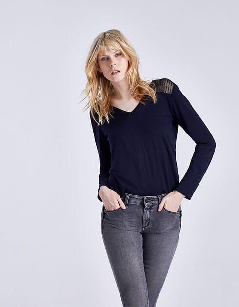 Tee-shirt bi-matières femme ikks