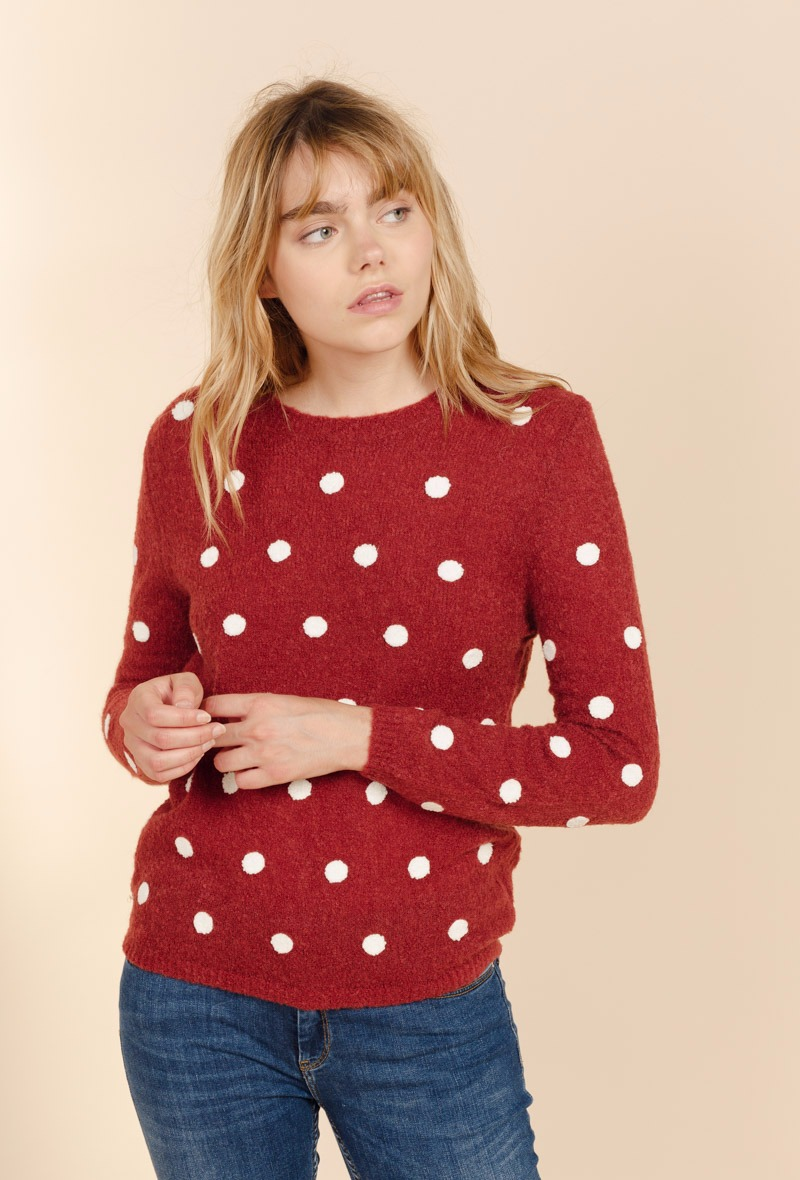 sweewe-pull-femme-a-pois-dark_red-1