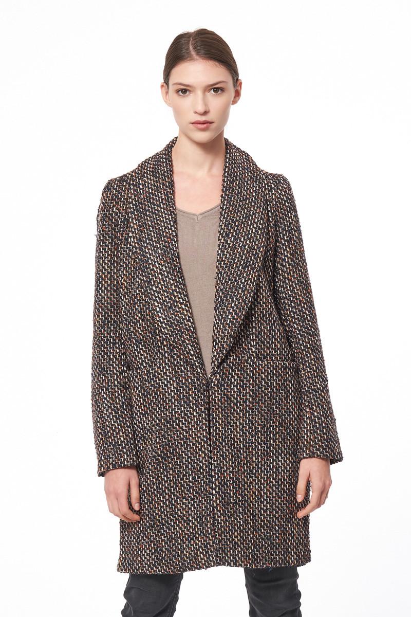 Manteau lainé droit