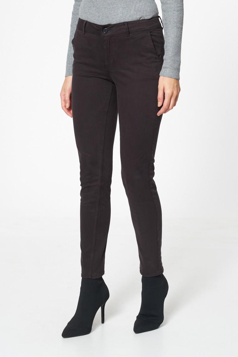 Pantalon chino skinny Effet peau de pêche Noir