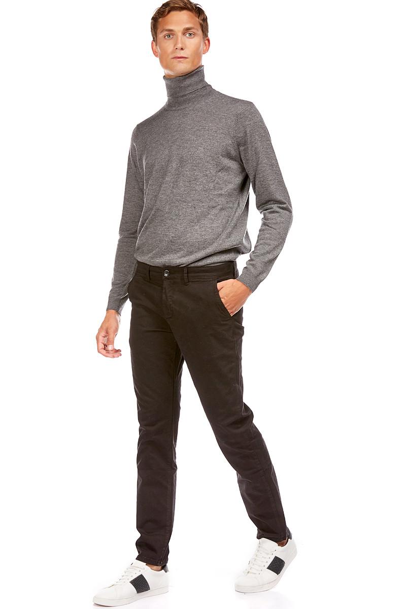 Pantalon chino slim noir - 5 poches